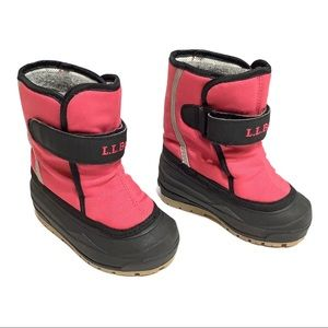 L.L. Bean pink snow boots, toddler size 7